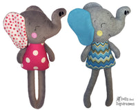 ITH Big Elephant Pattern - Dolls And Daydreams - 1
