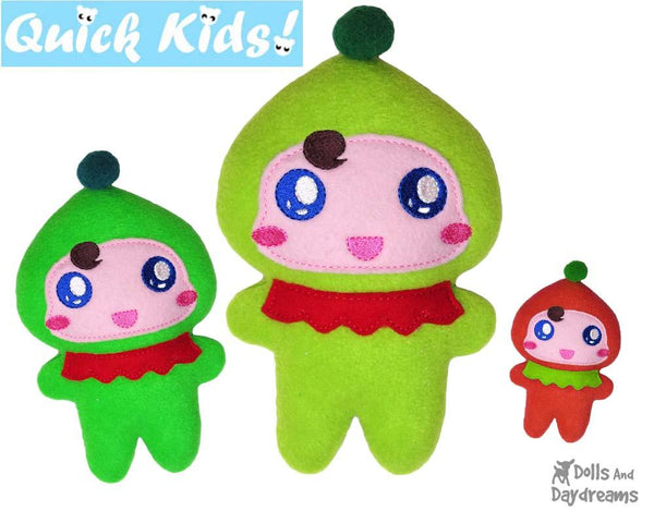 Quick Kids Christmas Elf Machine Embroidery Pattern by Dolls And Daydreams kids xmas diy plush soft toy
