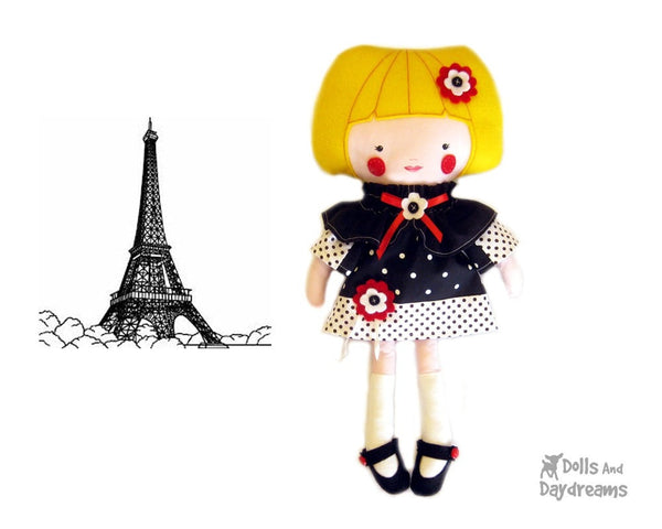 French Dress and Cape Sewing Pattern - Dolls And Daydreams - 5