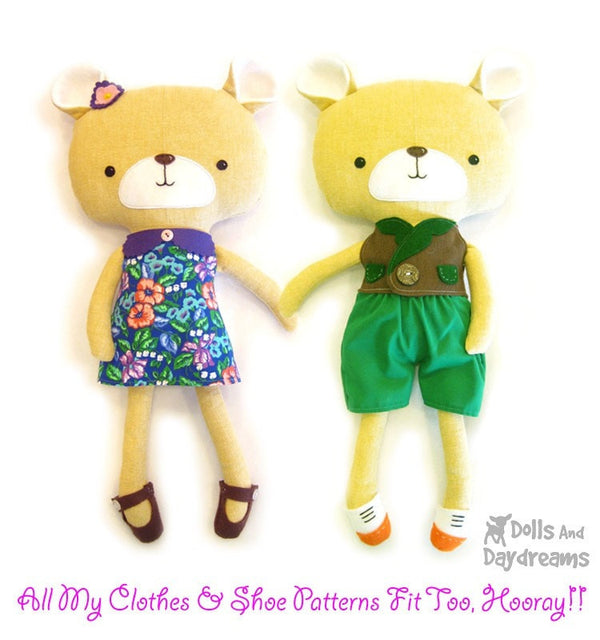 Teddy Bear Sewing Pattern - Dolls And Daydreams - 3