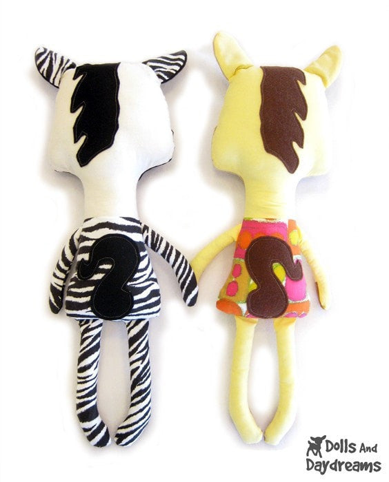 Horse and Zebra Sewing Pattern - Dolls And Daydreams - 3