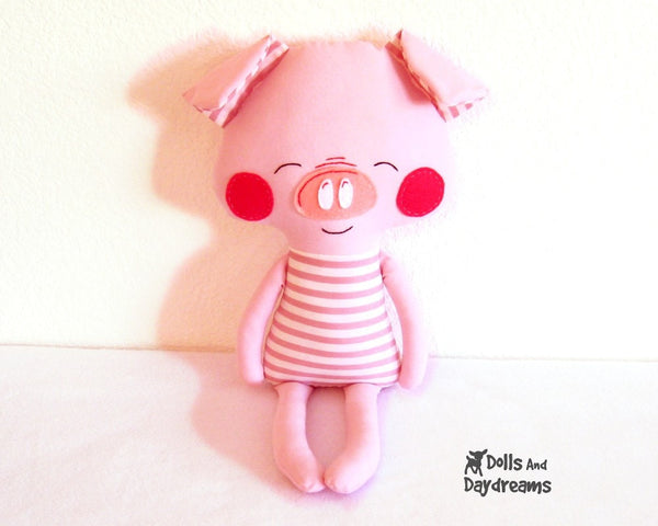 Three Little Pigs and Big Bad Wolf Sewing Pattern - Dolls And Daydreams - 3