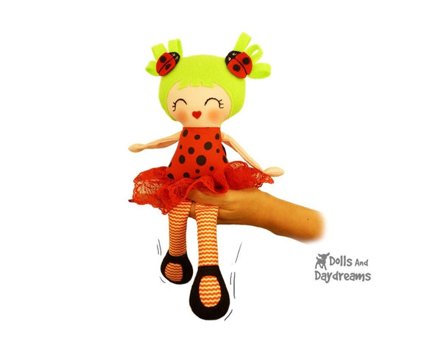 Little Lady Bug Girls Sewing Pattern - Dolls And Daydreams - 2