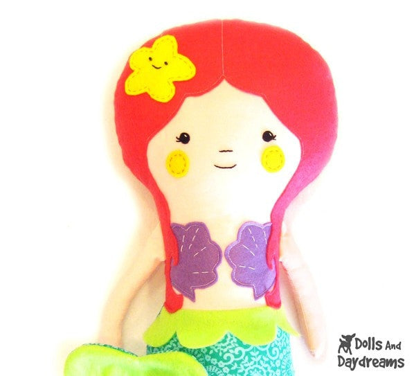 Little Mermaid Sewing Pattern - Dolls And Daydreams - 2