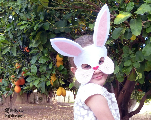 Bunny Mask & Tail Pattern - Dolls And Daydreams - 2