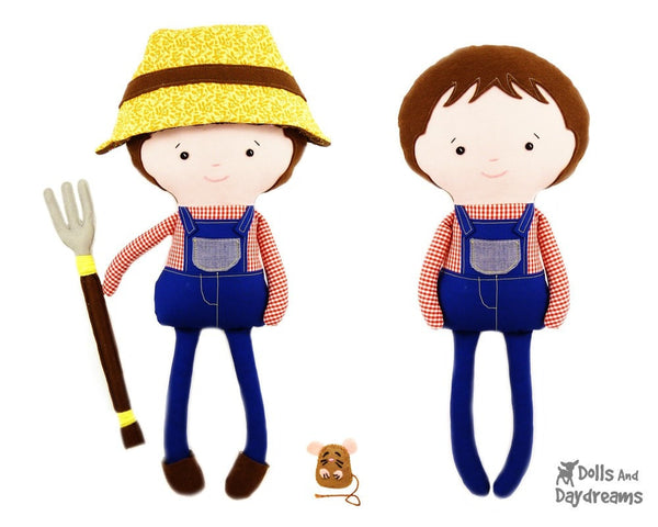 Farmer Scarecrow Sewing Pattern - Dolls And Daydreams - 2