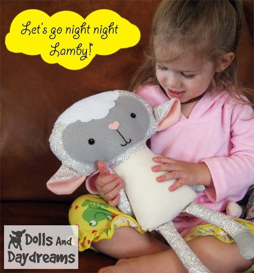 Lamb Sewing Pattern - Dolls And Daydreams - 3