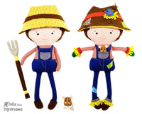 Farmer Scarecrow Sewing Pattern - Dolls And Daydreams - 1