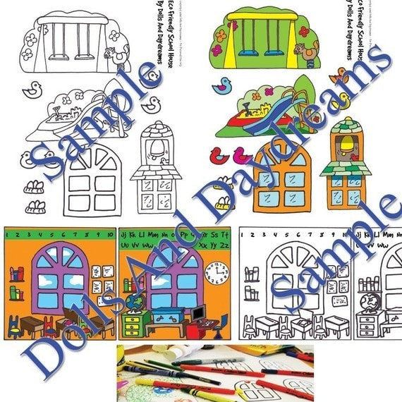 Decorative 'School' Printouts - Dolls And Daydreams - 2
