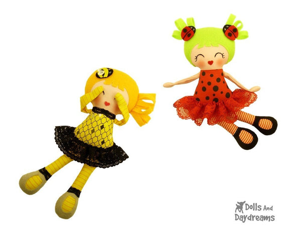 Little Lady Bug Girls Sewing Pattern - Dolls And Daydreams - 3