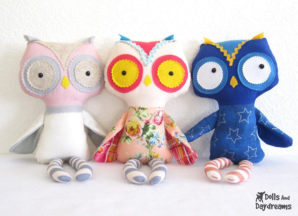 Owl Sewing Pattern - Dolls And Daydreams - 2