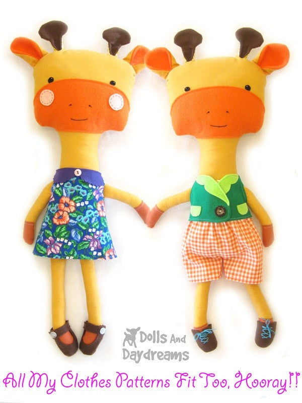 Giraffe Sewing Pattern - Dolls And Daydreams - 4
