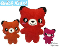 ITH Quick Kids Fox stuffie Pattern by dolls and daydreams