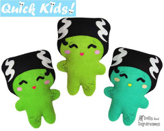 Quick Kids Bride of Frankenstein Sewing Pattern