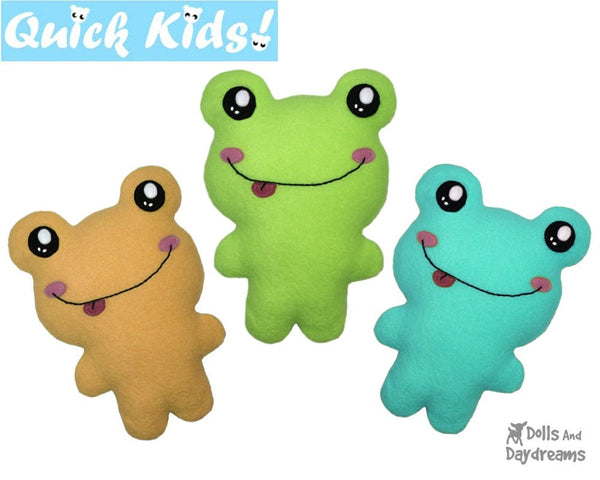Quick Kids Frog Sewing Pattern
