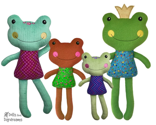 ITH Big Frog Pattern In The Hoop DIY Soft toy by Dolls And Daydreams