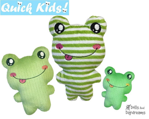 ITH Quick Kids Frog Pattern Machine Embroidery