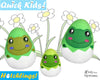 In The Hoop Quick Kids Frog Hatchling Easter Egg Stuffie ITH machine embroidery Pattern Plush Toy by Dolls And Daydreams