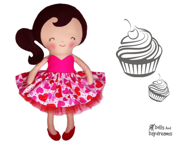 Cupcake Skirt Sewing Pattern - Dolls And Daydreams - 4