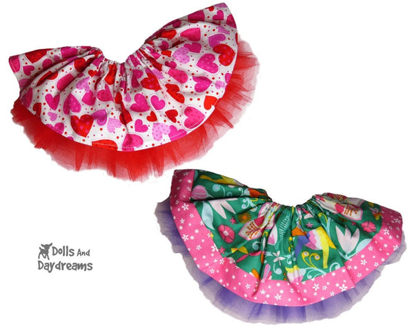 Cupcake Skirt Sewing Pattern - Dolls And Daydreams - 2