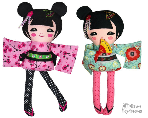 Geisha Sewing Pattern - Dolls And Daydreams - 1