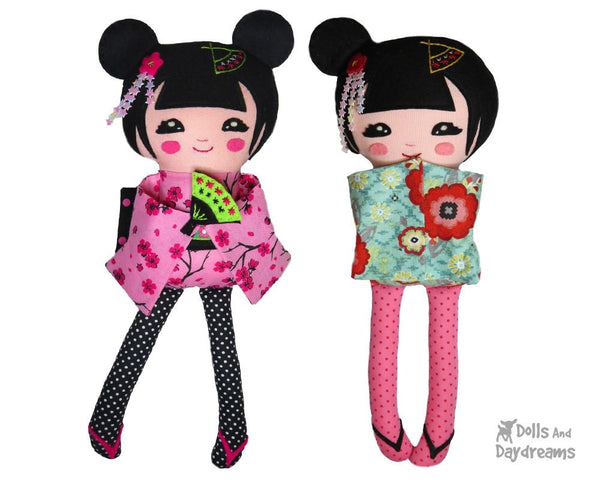 Geisha Sewing Pattern - Dolls And Daydreams - 3