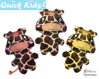 Quick Kids Giraffe Sewing Pattern