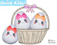 ITH Quick Kids Girl Easter Egg Pattern