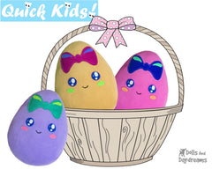 Quick Kids Girl Easter Egg Sewing Pattern