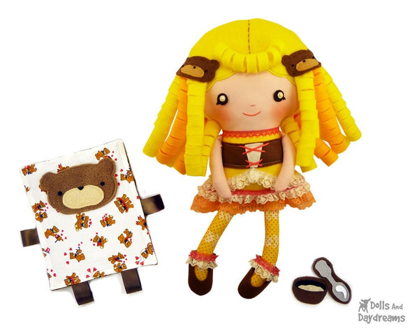 Goldilocks Sewing Pattern - Dolls And Daydreams - 2