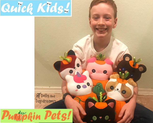 ITH Quick Kids Pumpkin Teddy Pattern