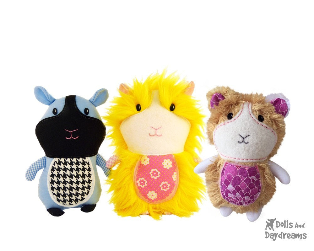 Guinea Pig Sewing Pattern   Dolls And Daydreams