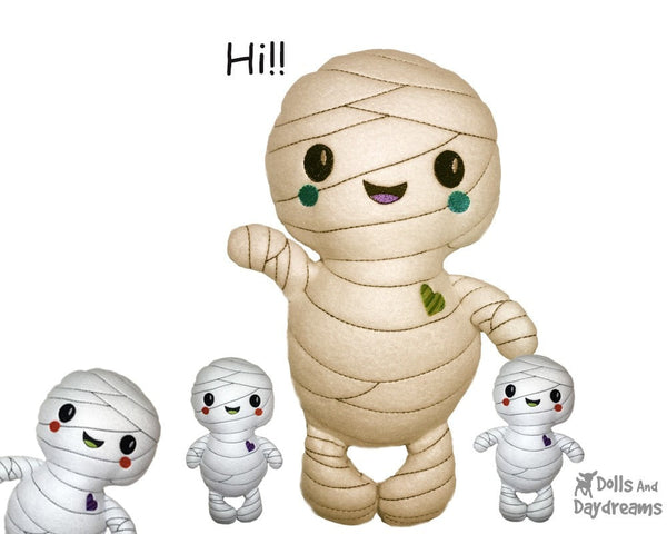 Embroidery Machine Mummy Pattern - Dolls And Daydreams - 3