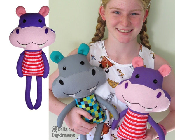 Hippopotamus Sewing Pattern Kids DIY Toy Dolls And Daydreams