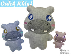 ITH Quick Kids Hippo Pattern