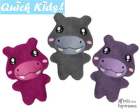 Quick Kids Hippo Sewing Pattern