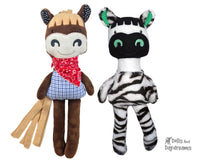 ITH Horse Zebra Stuffie Kids Toy Pattern by Dolls And Daydreams