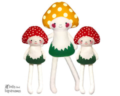 alita mushroom baby in the hoop pattern by dolls and daydreams