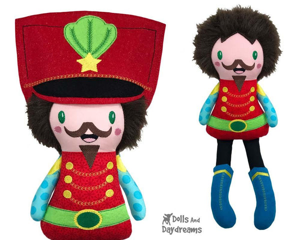 Nutcracker Soldier Machine Embroidery ITH Pattern by Dolls And Daydreams