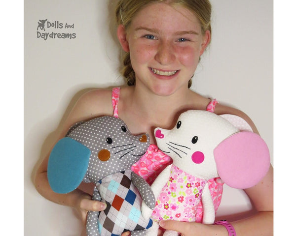 Mouse Sewing Pattern DIY Kids Plush soft Toy