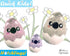 In The Hoop Quick Kids Koala Hatchling Easter Egg Stuffie ITH machine embroidery Pattern Plush Toy by Dolls And Daydreams