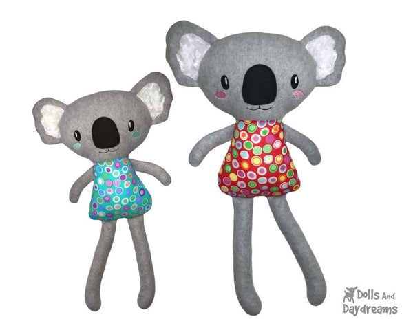 ITH Big Koala machine embroidery toy Pattern by dolls and daydreams DIY plush stuffie