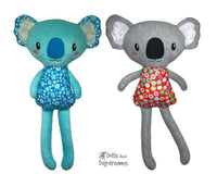 ITH Big Koala machine embroidery toy Pattern by dolls and daydreams