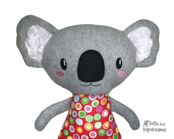 In the Hoop cute Koala machine embroidery toy Pattern by dolls and daydreams