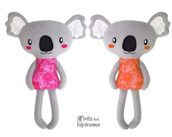 Koala Sewing Pattern PDF Softie Toy DIY Plush by Dolls And Daydreams