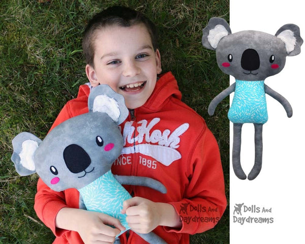 Cute Koala Sewing Pattern Softie Toy DIY Plush by Dolls And Daydreams