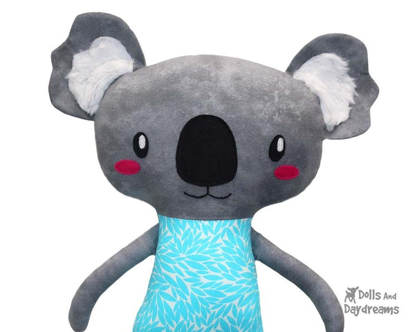 Koala Sewing Pattern PDF Softie DIY Plushie by Dolls And Daydreams