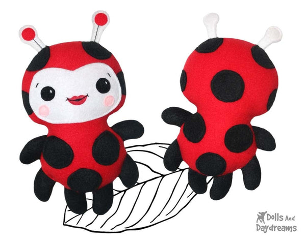 Easy Ladybug Ladybird Sewing Pattern Kawaii Toy Plush DIY