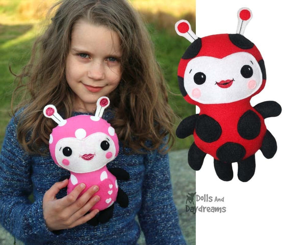 Children's Ladybug Sewing Pattern Ladybird Soft Toy DIY
