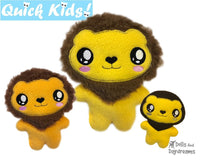 ITH Quick Kids Lion Machine Embroidery Pattern